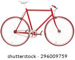Fixed Red City Bike Isolated O...