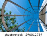 abstract industrial ladder.... | Shutterstock . vector #296012789
