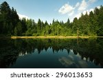 Mountain Lake In Spruce Forest...