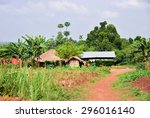 traditional african huts in a... | Shutterstock . vector #296016140