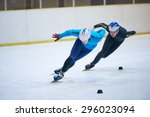 speed skating sport with young... | Shutterstock . vector #296023094