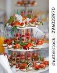 catering for wedding | Shutterstock . vector #296023970