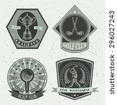 Set Of Golf Club Logo Template...
