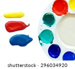 primary colors blob and palette ... | Shutterstock . vector #296034920