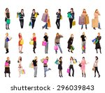 money is happiness bags full  | Shutterstock . vector #296039843