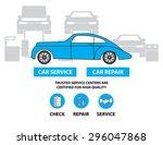 car service flat designed...