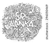 sri lanka hand lettering and...   Shutterstock .eps vector #296050469
