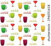 pattern glass of juice for... | Shutterstock .eps vector #296051618