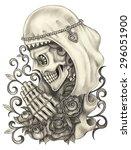 Skull Art Day Of The Dead. Han...