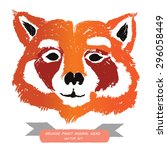 Red Panda Bear Head   Vector...