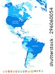 north and south america   map... | Shutterstock .eps vector #296060054