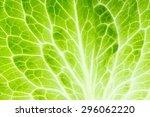 fresh lettuce leaf closeup.... | Shutterstock . vector #296062220