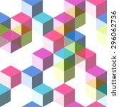 seamless dimensional hip... | Shutterstock .eps vector #296062736