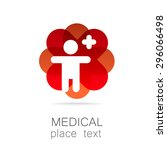 medical logo   the concept for... | Shutterstock .eps vector #296066498