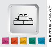 building block thin line flat... | Shutterstock .eps vector #296070179