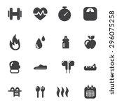 fitness icon | Shutterstock .eps vector #296075258