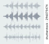vector sound waves set. audio... | Shutterstock .eps vector #296075474