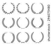 vector award wreaths  laurel on ... | Shutterstock .eps vector #296075480
