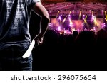 audience presenting tickets or... | Shutterstock . vector #296075654