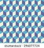 seamless pattern vector cube...