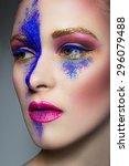 portrait of a girl   Shutterstock . vector #296079488