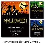 halloween invitation poster or... | Shutterstock .eps vector #296079569