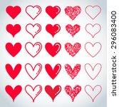 heart shaped vector | Shutterstock .eps vector #296083400