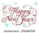 calligraphic text handmade... | Shutterstock . vector #296084534