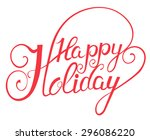 elegant  vector lettering in... | Shutterstock . vector #296086220