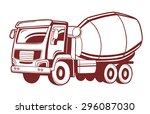 vector illustration of concrete ... | Shutterstock .eps vector #296087030