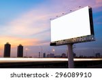 blank billboard for... | Shutterstock . vector #296089910
