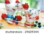 vanilla yogurt over... | Shutterstock . vector #29609344
