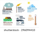 ecology problems infographic... | Shutterstock .eps vector #296094410