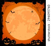 grunge halloween background... | Shutterstock .eps vector #296095760