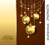 christmas background with...   Shutterstock .eps vector #296096078
