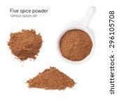 Small photo of Five spice powder. Isolated on white background