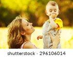 happy family  friends forever...   Shutterstock . vector #296106014