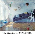 Zero Gravity Interior. 3d...