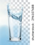 Glass Of Water  Vector...