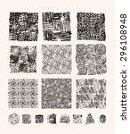 lino cut textures   Shutterstock .eps vector #296108948