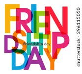 illustration of friendship day. | Shutterstock .eps vector #296115050