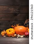 thanksgiving   different...   Shutterstock . vector #296121563