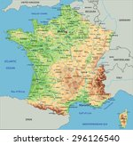 high detailed france physical... | Shutterstock .eps vector #296126540