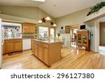 traditional kitchen with... | Shutterstock . vector #296127380