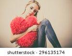Broken Heart Love Concept. Sad...