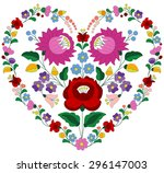 heart made with traditional... | Shutterstock .eps vector #296147003