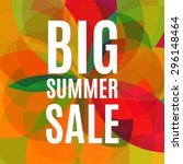 vector summer sale design... | Shutterstock .eps vector #296148464