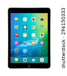 apple space gray ipad air 2... | Shutterstock . vector #296150333