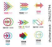 vector set of modern abstract... | Shutterstock .eps vector #296151794