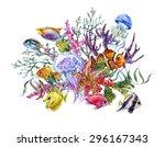 Summer Vintage Watercolor Sea...
